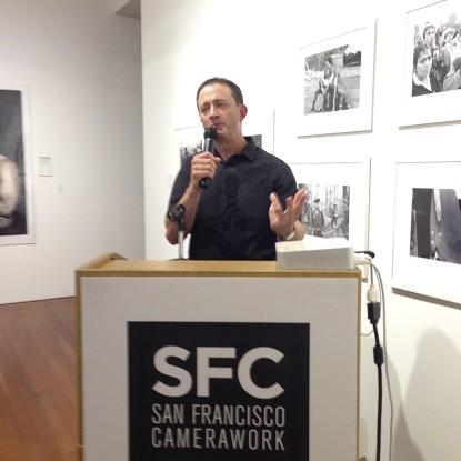 Matthew O'Brien presenting No Dar Papaya at San Francisco Camerawork