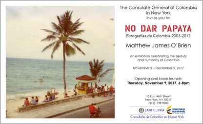 POstcard announcing east coast launch of No Dar Papaya