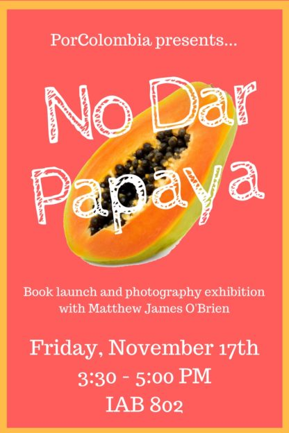 Postcard invitation to 11/17/17 book launch and exhibition